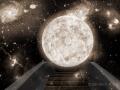 Planet Hintergrund 2Color Weltraum 5sepiaund Brücke