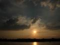 Sonnenuntergang Duesseldorf am Rhein 0006