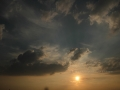 Sonnenuntergang Duesseldorf am Rhein 0007