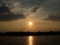Sonnenuntergang Duesseldorf am Rhein 0011