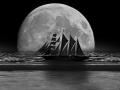 MOND groß xxx Segelschiff und Strand (2)